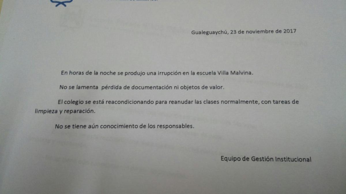 En el Colegio Villa Malvina suspendieron las clases del nivel ...